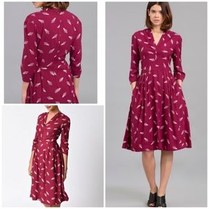 Modcloth Emily and Fin Victoria Geo Pattern Dress